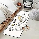 OPLJ Dibujos Animados Pato Perro Dormitorio mesita de Noche alfombras decoración para niños Estilo nórdico Antideslizante Alfombra de Cocina Sala de Estar Felpudo Alfombra de baño A1 50x80cm