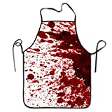 Halloween Bloody Apron Scary Blood Splattered Murder Butcher Costumes Unisex Cooking Chef Apron Party Decorations Props