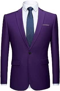 Men's Peak Lapel Blazer One Button Tuxedo Jacket Prom Party Jacket Wedding Dinner Coat Casual Coat