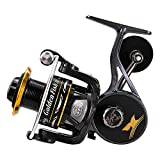 linewinder Fishing Reel Spinning Reel Magnesium Alloy Body Upgraded Golden Fish II Ultralight Weight Super Smooth 9+1 BB for Saltwater or Freshwater (GFII3000)