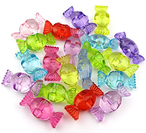 ALL in ONE Mixed Color Acrylic Rhinestone Crystal Candy Shape Beads