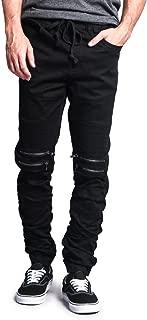 Victorious Zipper Knee Biker Twill Jogger Pants