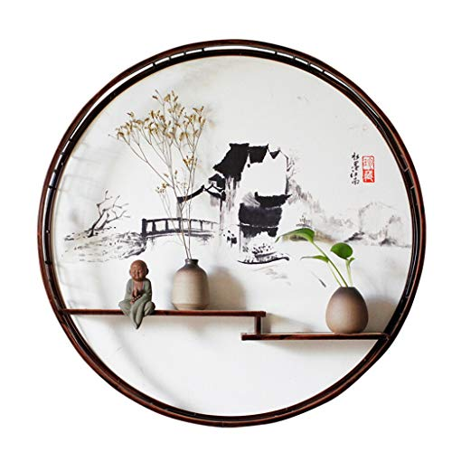 Étagère SAP Murale Maison Zen décoration Fer forgé penderie Salon Porche tenture Solide (Color : C)