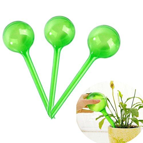 PVC 8 cm Relaxdays 10023226/_53 Lot de 4 Boules darrosage Double semainier en Plastique Vert