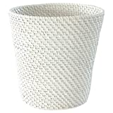 LaMont Home Cayman Bath Collection Wastebasket, White