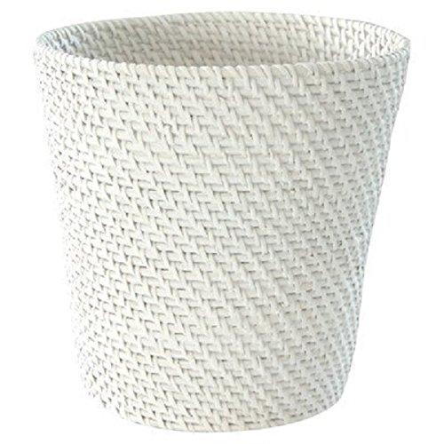 LaMont Home Cayman Bath Collection Wastebasket White