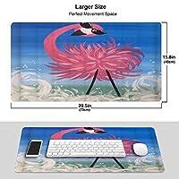 VINISATH 大型 マウスパッド サングラスをかけているクールなピンクのフラミンゴ 個性的 おしゃれ 柔軟 かわいい ゲーミングマウスパッド PC ノートパソコン オフィス用 デスクマット 滑り止め 特大 マウスマット