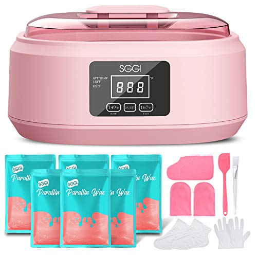 SGGI Paraffin Wax Machine Touchscreen 3000ML,6 Packs of Wax 2.6lb for Hand and Feet, Moisturizing Paraffin Spa Wax Bath Kit,Large Capacity at Home for Soft and Smooth Skin,Gift for women