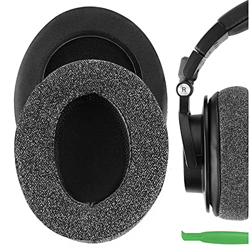 Geekria Coussinets de rechange en lin pour casque audio Technica ATH-M50XBT ATH-M50X M40X M30X M20X M10X ATH-ANC9 Coussinets de rechange pour oreillettes