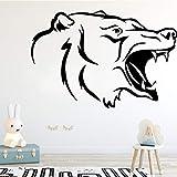 wZUN Kreative Wolf Muster Aggressive Tier Wandaufkleber Junge Zimmer Schlafzimmer...