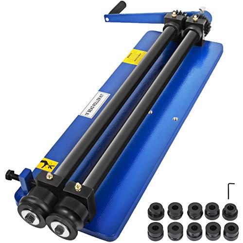Mophorn Rundbiegemaschine manuell 460mm Sickenmaschine 1,2mm Kapazität Bördelmaschine mit 6 Würfelsätzen für Blechwerkstätten (460mm)