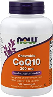 NOW Supplements, CoQ10 200 mg, Pharmaceutical Grade, All-Trans Form produced by Fermentation, 90 Lozenges