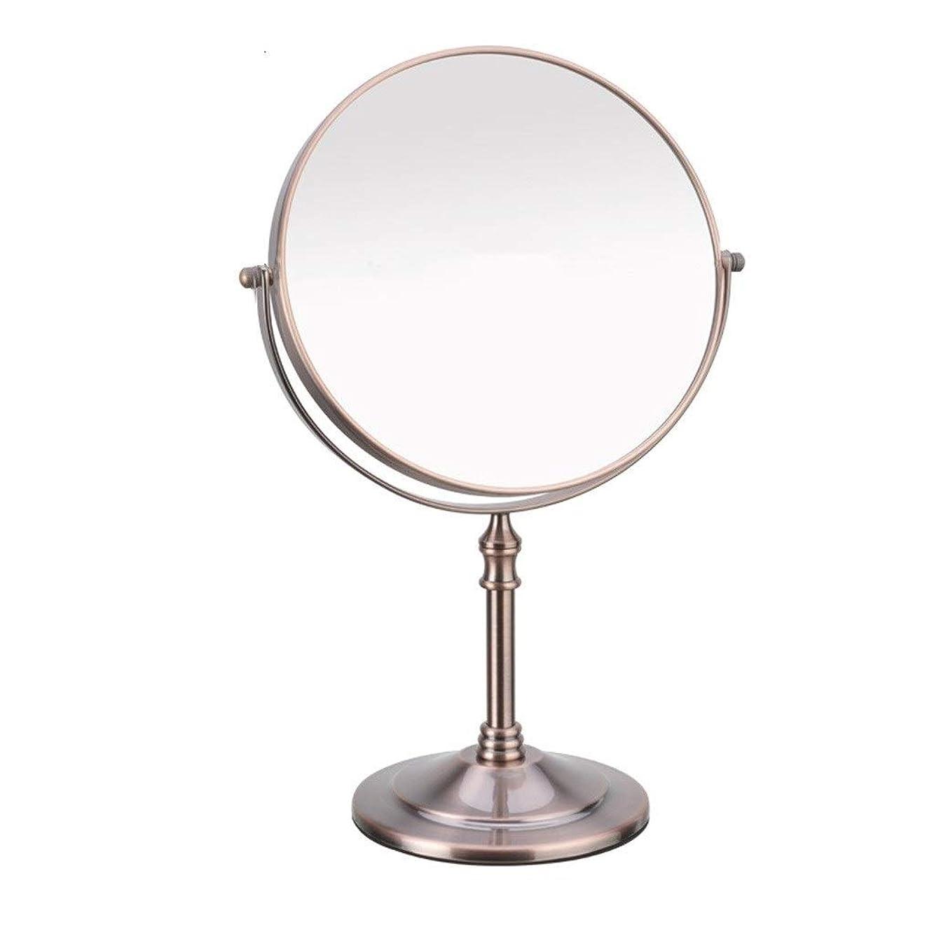 純正クリスマス寝具Selm カウンタートップ化粧鏡、両面1倍/ 3倍倍率卓上ベッドルームに適した360度回転バニティミラー金属材料 (Size : 8in)