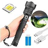 90000 lumen xhp70.2 leistungsstärkste led taschenlampe usb zoom taschenlampe xhp70 , teleskop USB zoom wasserdichte camping taschenlampe ( Xhp70 mit 26650 (2 Batterien))