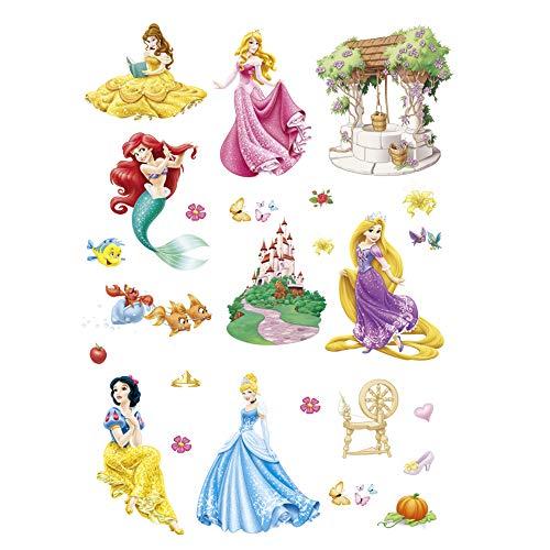ufengke Wandtattoo Prinzessin Meerjungfrau Wandsticker Wandaufkleber Schloss Für Babyzimmer Kinderzimmer Mädchen