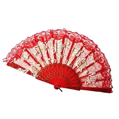 Guo Nuoen Best Chinese Style Dance Wedding Party Silk Fans Wall Hanging Folding Hand Held Flower Fan