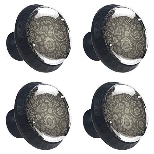 Gradient National Wind - Juego de 4 tiradores y tiradores redondos para armarios de cocina y baño, aparadores, cajones, persianas