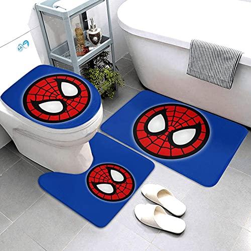 Marvel Avengers Spiderman Ensemble de 3 tapis de bain antidérapants absorbants et lavables pour salle de bain