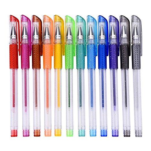 Mudder Set di Penne Gel Glitter per Colorare Libro, Disegnare, Colorare, Scarabocchiare e Abbozzare,
