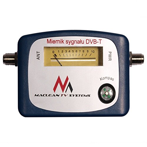 Maclean MCTV-627 DVB-T Signal Finder Digital Antenne Terrestrisch mit Kompass blau