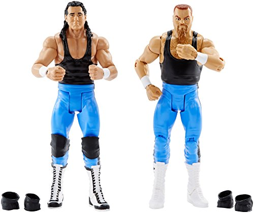 WWE Bret Hart and Jim Neidhart Action Series 47 Figure, 2 Pack