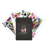 Frasco inferior redondo tubo de prueba Chestry poker jugar magia tarjeta divertido juego de mesa