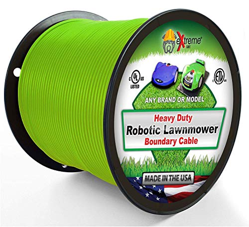 Extreme Consumer Products Universal Heavy Duty Automatic Lawnmower Boundary Wire - 2000' 14 Gauge Thick Professional Grade Robotic Lawnmower Perimeter Wire Works with All Brands
