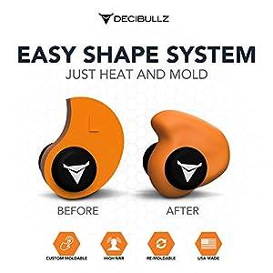 Decibullz - Custom Molded Earplugs, Orange