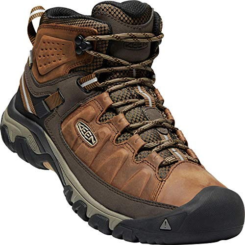KEEN - Men's Targhee III Waterproof Mid Leather Hiking Boot, Big Ben/Golden Brown, 7 US