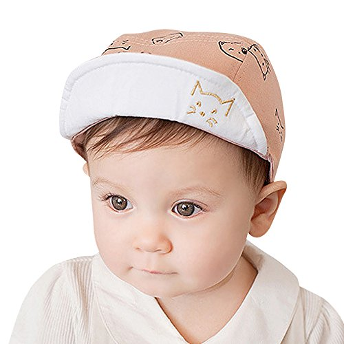 SANFASHION Jungen Mädchen Sonnenhut Cute Infant Baby Kids Comfortable Bongrace Hat Peak Cap Cat Kitten Cartoon Baseballmütze (Rosa)