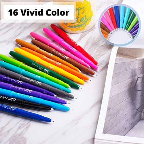Mr. Pen- Felt Tip Pens, 16 Pack, Colored Felt Tip Pens, Marker Pens, Felt Pens, Felt Tip Markers, Felt Markers, Felt Tip Pens Assorted Colors, Felt Tip Marker Pens, Felt Tip Pens Fine Point Photo #7