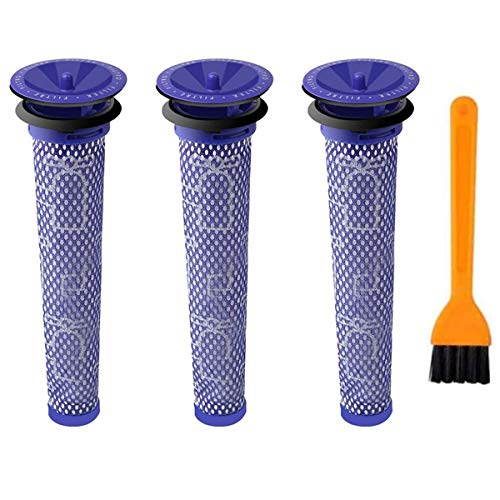 3 Stück Waschbar Pre Motor Stick Filter Zubehör für Dyson DC58 DC59 DC61 DC62 DC74 V6 V7 V8 Staubsaugerzubehör,Ersatz Vorfilter für Dyson Replenishment