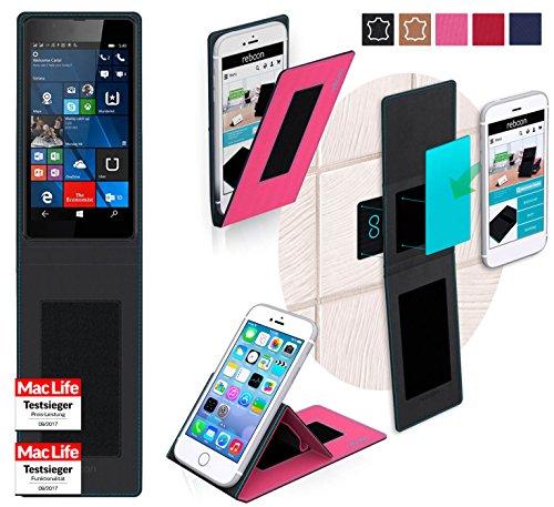 reboon Custodia per Nokia Lumia 540 Dual Sim   in Rosa   Cover Case Caso Multifunzionale