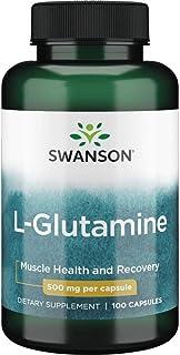 Swanson Amino Acid L-Glutamine 500 Milligrams 100 Capsules