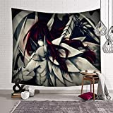 yownle Anime Tapestry Fairy Tail Erza Tapestry Wall Hanging Curtain Decor Bedroom Home Living Room Wall Art Tapestries 50x60inch(130x150cm)