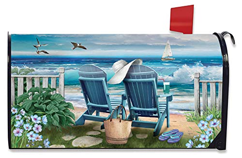 Briarwood Lane Seaside Escape Summer Magnetic Mailbox Cover Nautical Standard