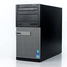 Dell Optiplex 9010 Tower Premium Business Desktop Computer (Intel Quad-Core i7-3770 up to 3.9GHz, 8GB DDR3 Memory, 2TB HDD + 120GB SSD, DVD, WiFi, Windows 10 Professional) (Renewed)