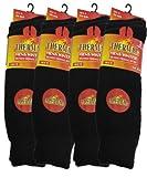 3 Pairs Mens Short Black Thermal Socks 6-11