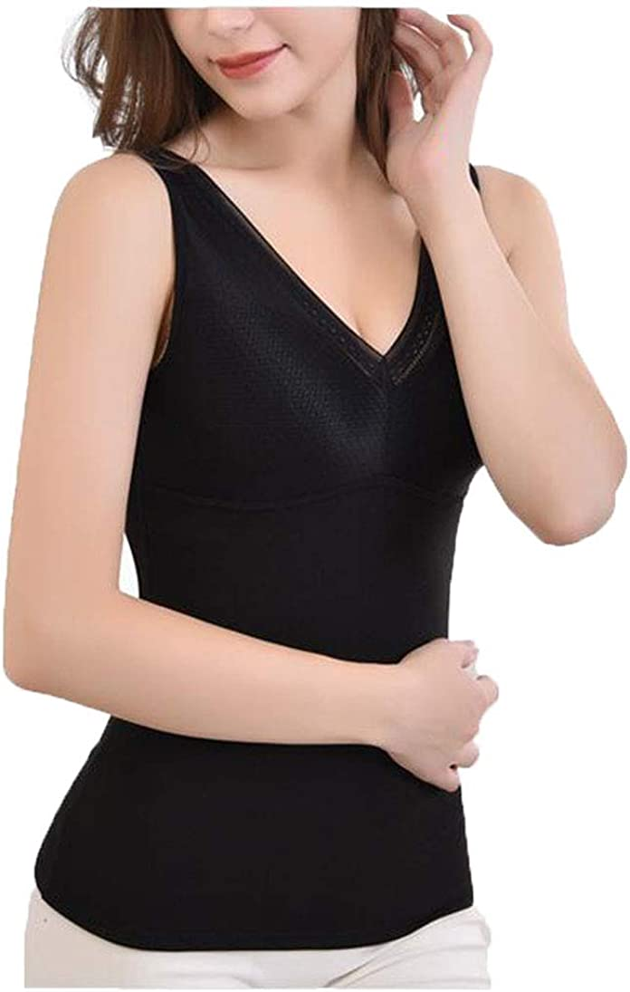 Sendyou Thermal Underwear Camisole with Pockets Bra for Women Breast Forms SY41