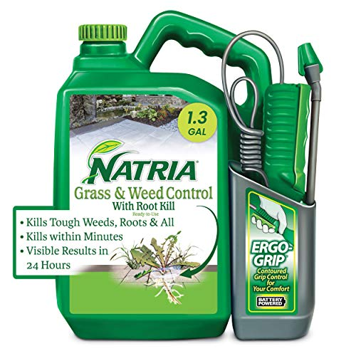 Natria 706510A Grass & Weed Control with Root Kill Herbicide Weed Killer, Ready-to-Use, 1.3 Gallon, Concentrate