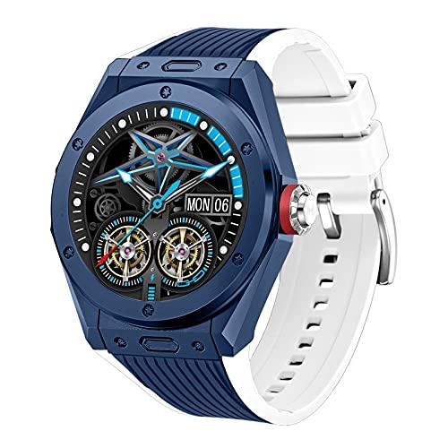 MiduoHu Smartwatch, Fitness Tracker Relojes con Bluetooth Llamada Música Altavoz Monitor de frecuencia cardíaca Pasómetro, IP68 Reloj Inteligente a Prueba de Agua para Hombres y Mujeres (Color : D)
