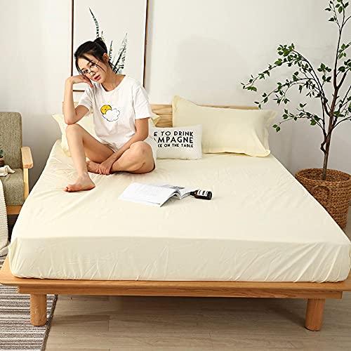 CYYyang colchón Acolchado, antialérgico antiácaros, Sábana Impermeable de un Solo Producto hotel-28_180cm × 220cm
