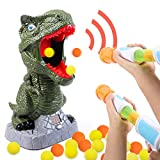 G.C Dinosaur Shooting Toys for Kids Fun T-Rex Target Shooting Games with LCD Score Record 2 Air Pump Guns 48 Soft Foam Balls Sound Indoor Outdoor Game Gift Toys for 5 6 7 8 9 10+ Boys and Girls