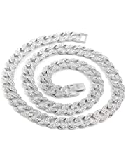 Gargantilla de diamantes simulados Cadena de 14 mm para hombre de hip hop totalmente helada Miami Cuban Link Collar de diamantes simulados