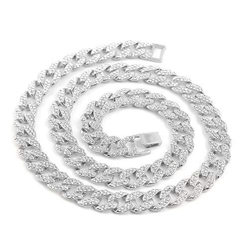 La cadena de eslabones cubanos de 14MM THICK Hip Hop Jewelry está hecha a mano y con diamantes simulados Se utilizó tecnología de alto nivel hecha a mano, con alto revestimiento y pulido, no se desvanecería. Joyas Hipp Hop Bling Bling. Cool para homb...