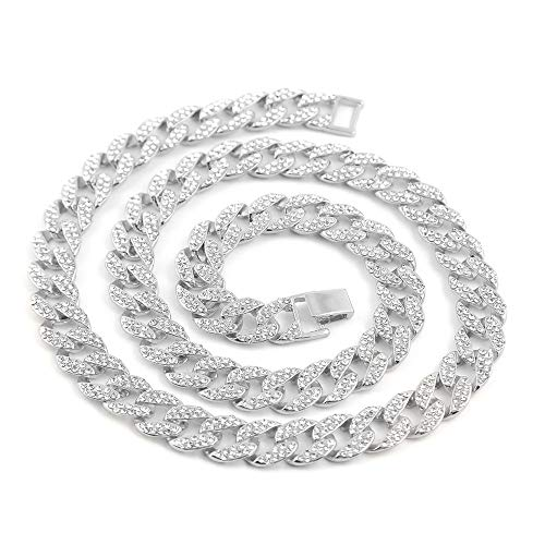 Top WHY Hip Hop Männer 14MM Ketten Voll Iced-Out Miami Cuban Link Simulierte Diamanten Halskette Choker