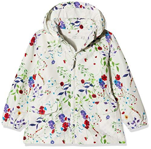 Name It NMFMELLO Jacket Field Flower Blouson, Mehrfarbig (Snow White Snow White), 3 Ans Bébé Fille