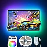 TV LED Backlight Strip, Govee 6.56ft USB RGB LED Light Strips with APP