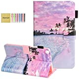 Elepower Samsung Galaxy Tab A 8.0 Case 2019, Slim Premium PU Leather Flip Stand Wallet Case with Card Holder Shockproof Cover for Galaxy Tab A 8.0-inch Tablet SM-T290/T295/T297 Model, Hot Beach