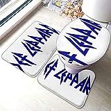 Def Leppard Alfombrilla de baño antideslizante Pedestal Set 100% fibra de poliéster baño alfombra 3 piezas juegos 40*60 cm